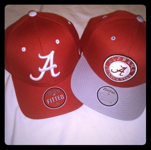 0c4c0814757c Alabama Crimson Tide Snapback  Fitted Hat 2 Set. Boutique. Zephyr